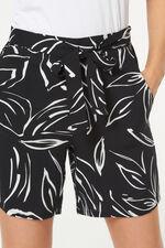 Linear Floral Belted Short