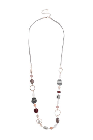 Muse Mixed Bead Long Rope Necklace