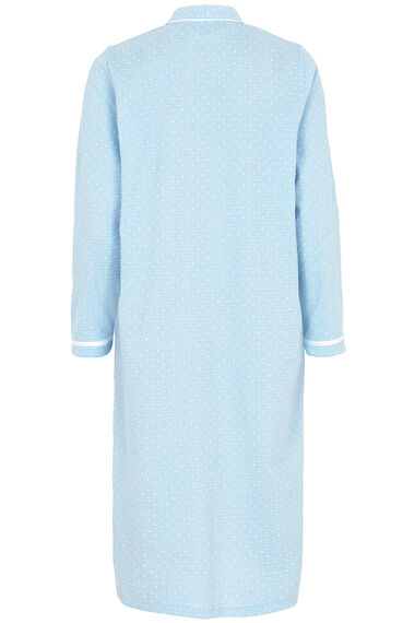 White Spot Textured Robe