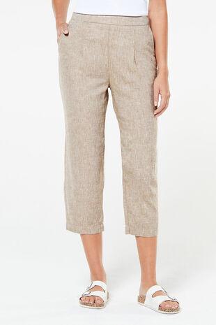 Textured Linen Crop