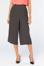 Spot Crepe Wide Leg Crop