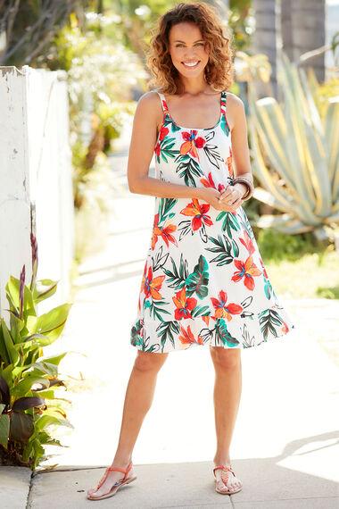 Floral Frill Hem Sundress
