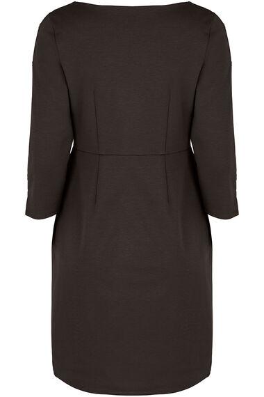Plain Press Stud Detail Ponte Dress