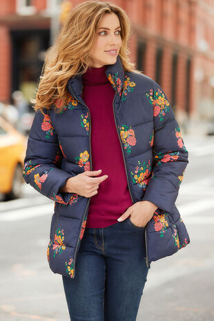Printed Padded Coat