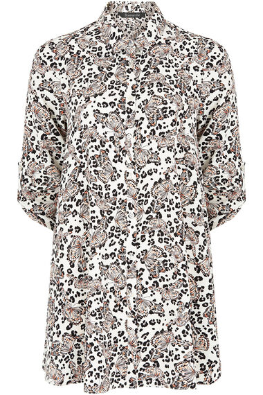Animal Print Longline Shirt
