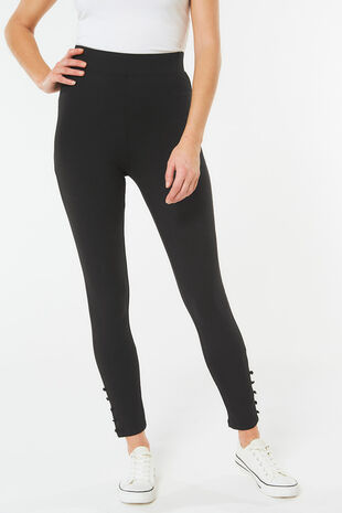 Button Hem Legging