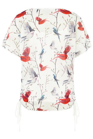 Izabel Bird Print Top