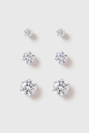 Muse 3 Pack Cubic Zirconia Studs