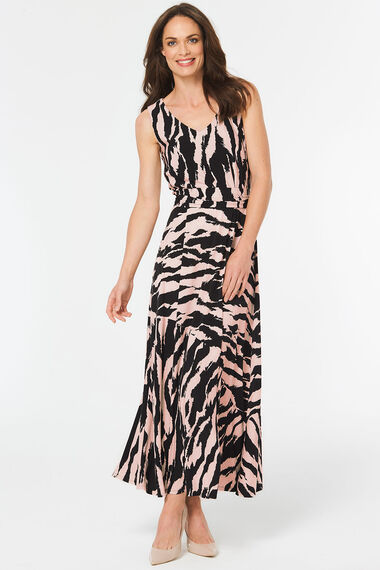 Tiger Stripe Print Maxi Dress