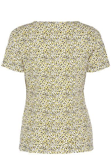 Animal Spot Print Square Neck T-Shirt