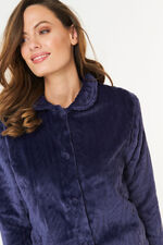 Cable Fleece Button Up Bed Jacket
