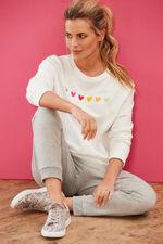 NVC Activewear Heart Embroidery Sweatshirt