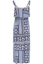 Tile Print Maxi Dress