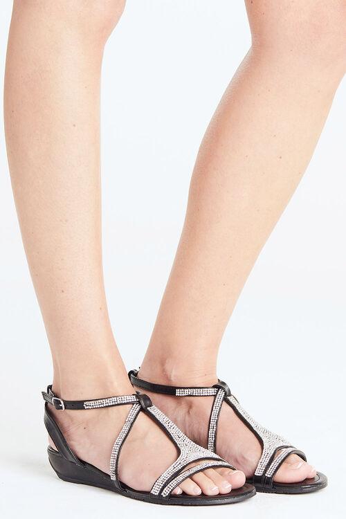 Maya Grace Cannes Diamante Strap Sandal