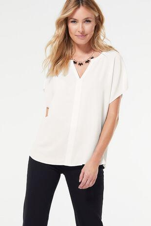 Short Sleeve Woven Blouse