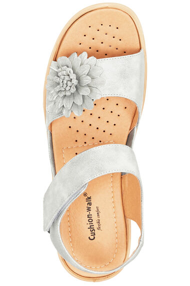 Cushion Walk Touch Fasten 3D Floral Sandal