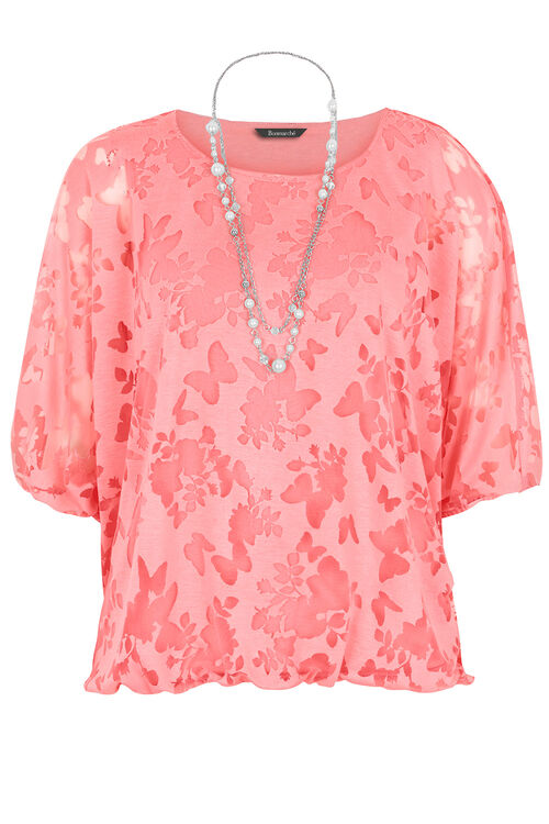 Butterfly Top With Necklace