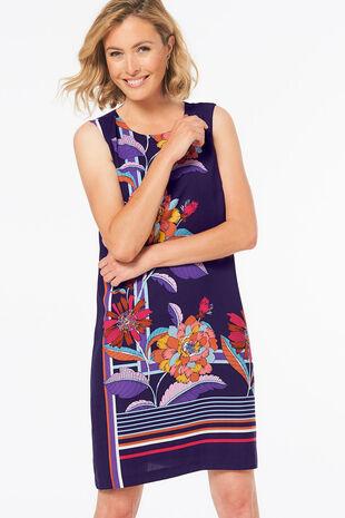 Crepe Printed Shift Dress