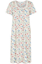 Sweetheart Neck Floral Nightdress