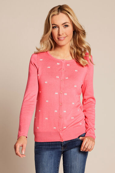 Bow Embroidered Cardigan