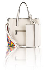 Kris-Ana Zip Front Shoulder Bag with Purse