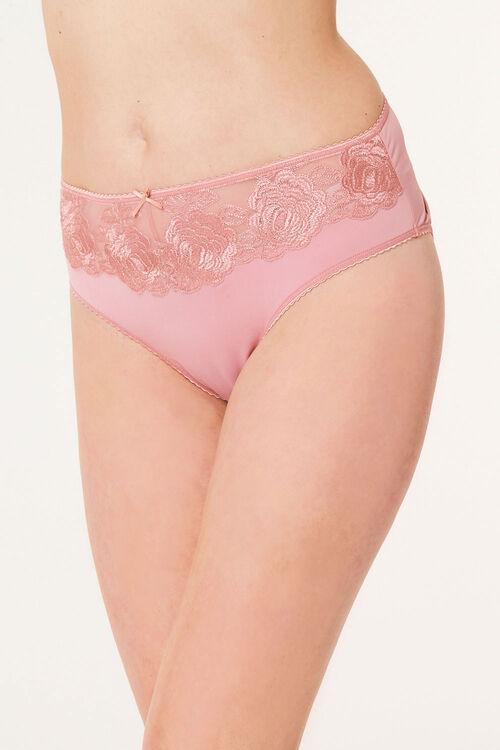 Floral Lace High Leg Brief