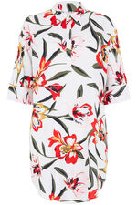 Overhead Longline Shirt in Floral Print
