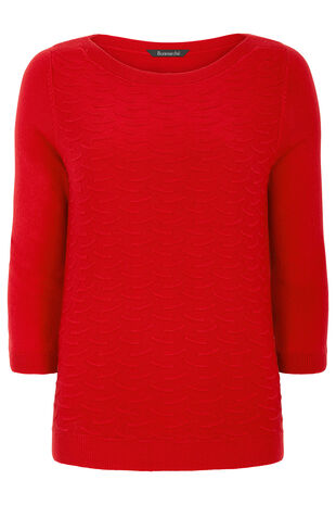 Supersoft Textured Boat Neck Jumper