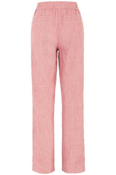 Tie Front Linen Blend Trouser