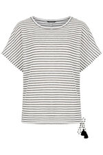 Textured Stripe Top With Side Tie