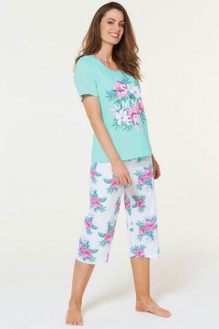 Tropical Floral Crop Pyjama Set
