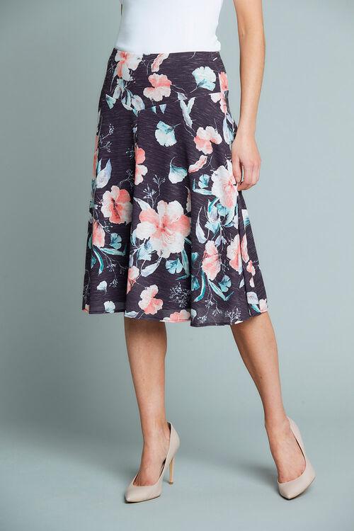 Floral Printed Marl Skirt