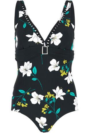 Floral Plunge Swimsuit
