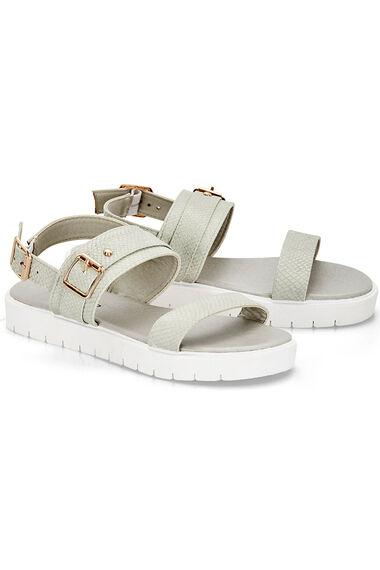 Krush Mock Snake Strap Sandals