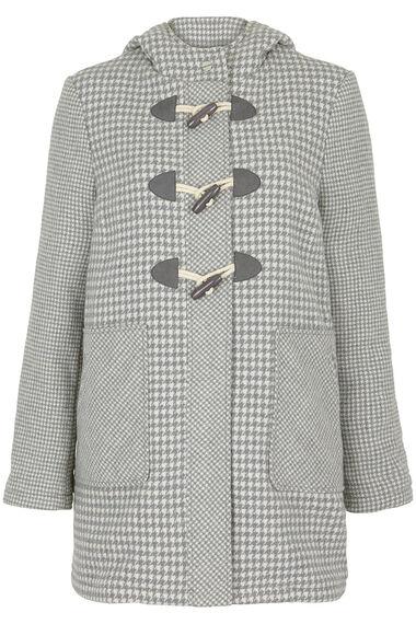 Houndstooth Duffle Coat