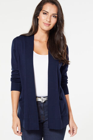 2dbd6d956b Smart Edge To Edge Cardigan With Pockets