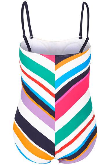 Chevron Bandeau Swimsuit