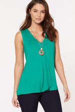 Jersey Hanky Hem Top With Necklace