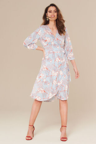 Grace By Eda Floral Wrap Dress