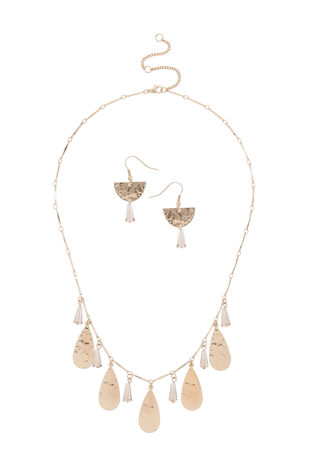 Muse Facet Drop Earring and Necklace Set