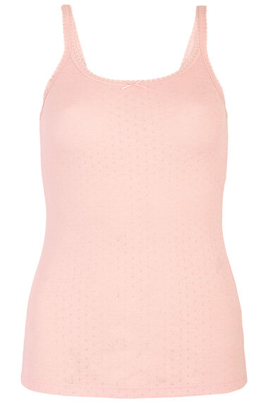 Pink Thermal Cami Vest Top