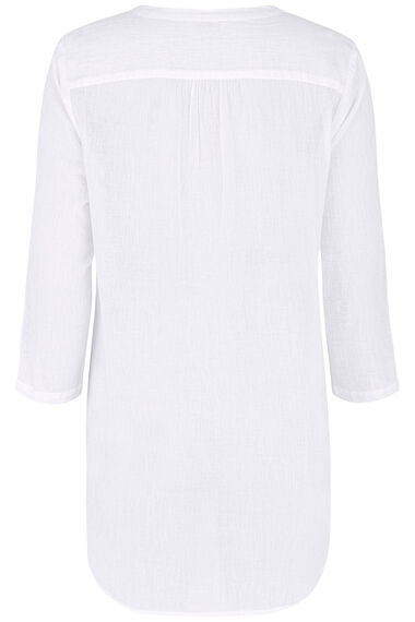 White Cotton Beach Shirt