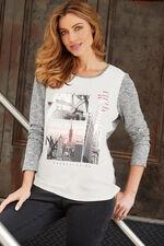 New York Woven Front T-Shirt