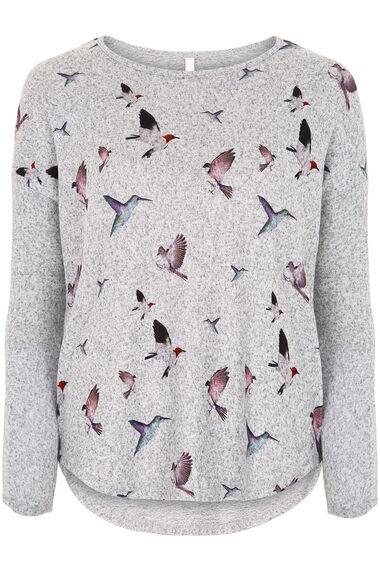 Stella Morgan Bird Print Soft Touch Sweater