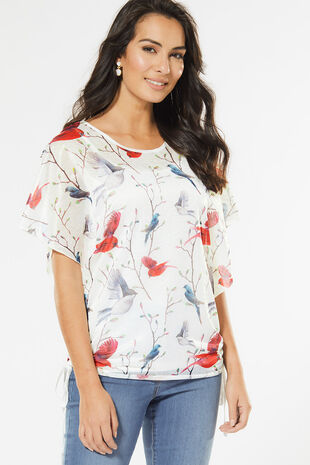 Izabel Bird Print Top