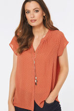 Button Through Tea Blouse