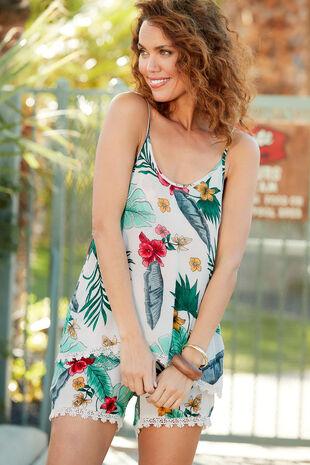 Isla & Rose Tropical Print Playsuit