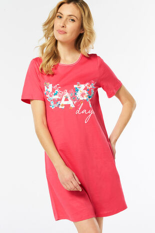 Lazy Placement Print Nightdress