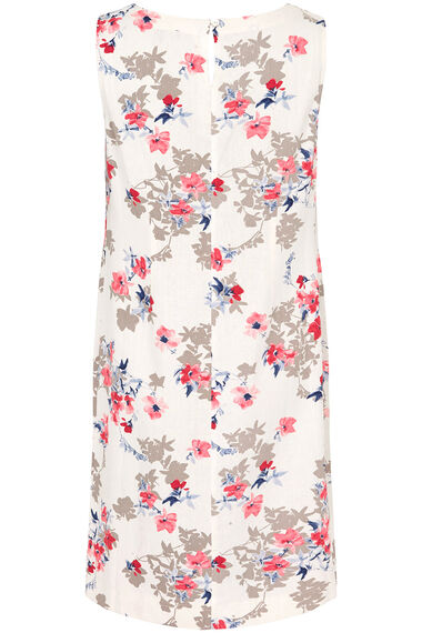 Printed Linen Blend Dress