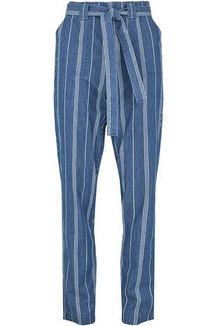 Stripe Chambray Harem Trouser
